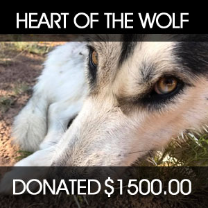 donated to Heart of a Wolf