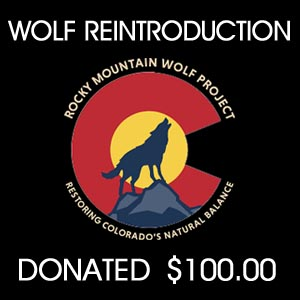 donated to Rocky Mountain Wolf Project