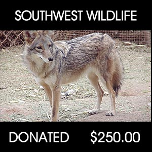 donated to South West Wildlife Center