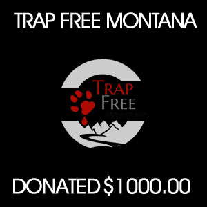 donated to  Trap Free MT