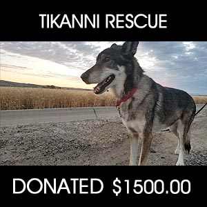 donated to Tikanni Rescue