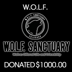 donated to W.O.L.F. Colorado