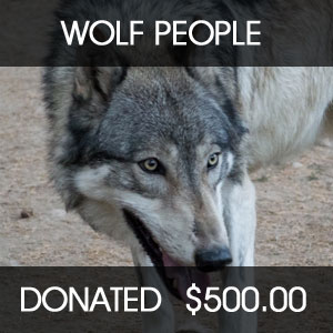 donated to WOLF PEOPLE