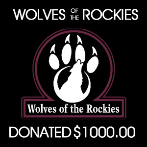 donated to Wolves of the Rockies